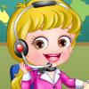 Baby Hazel Receptionist Dress game
