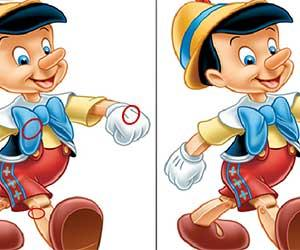 Pinocchio Differences game
