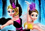 play Ellie And Annie Black Swan And White Swan
