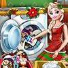 Elsa Washing Christmas Toys game