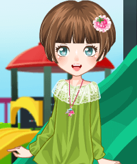 Slide Playing Dress Up game