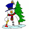 Christmas Snowman Coloring game