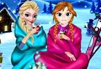play Frozen Sisters Winter Holiday