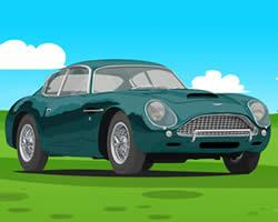 Aston Martin Cartoon Puzzle game