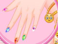 play Barbie Emoji Nails Designer