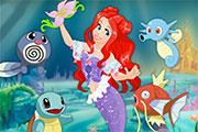 Ariel Water Pokemon Care game