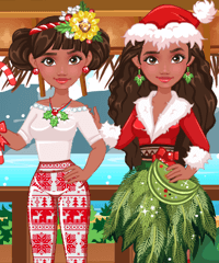 Moana For Christmas Dress Up Game game
