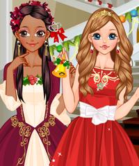 Christmas Princesses Dress Up Game game