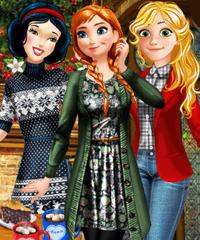 Princess Winter Fun Dress Up game