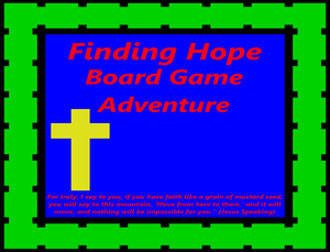 Finding Hope Board Game Adventure
