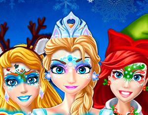 play Christmas Face Painting