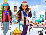 Elena And Moana Outdoor Winter Party game
