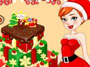 play Anna Christmas Cake Contest
