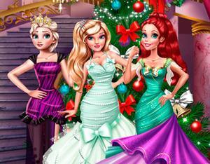 play Princesses Christmas Preparations