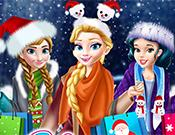 play Princesses Christmas Mall Shopping