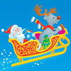 play Santa Claus With Reindeer Sleigh Puzzle