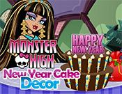 play Monster High New Year Cake Decor
