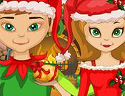 play Christmas Party Elf Dress Up