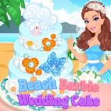 play Barbie Beach Wedding Cake