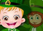 Baby Hazel St Patricks Day game