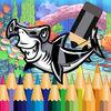 play Adventure Shark Coloring Book For Little Kids