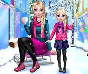 play Mommy Elsie Winter Day