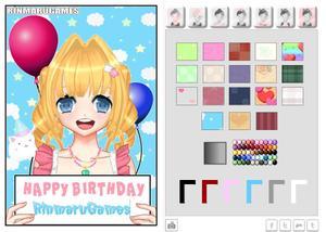 play Anime Birthday Card Creator