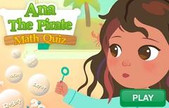 Ana The Pirate Math Quiz game