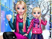 Mommy Elsie Winter Day game