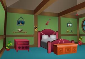 play Green Vintage Room Escape