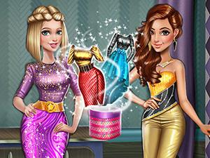 play Dollygals Party Dress Up