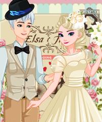 play Elsa Retro Wedding Dress Up Game