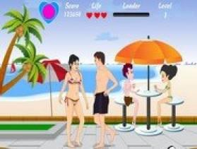 Vanessa Beach Kiss - Free Game At Playpink.Com game