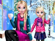 Mommy Elsie Winter Day game