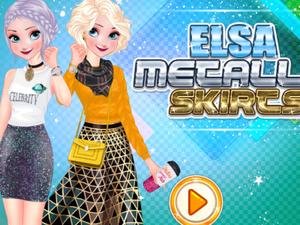 Elsa Metallic Skirts Fashion game