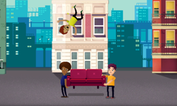 Bounce Bounce, The Couch game