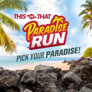 Paradise Run: Pick Your Paradise! Quiz game
