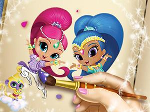 play Shimmer And Shine Coloring Book