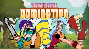 Dimensional Domination game