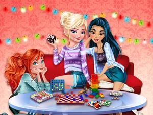 play Princesses Board Games Night
