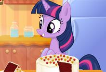 Twilight Sparkle Cooking Red Velvet Cake game