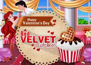 play Happy Valentine'S Day Red Velvet Cupcakes