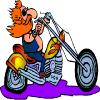 play Cartoon Motorcycle Road Driving
