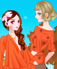 play Fancy Orange Color Dress Up Game