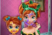 Ice Princess Mommy Real Makeover Girl game