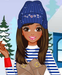 play Happy Winter Holidays Dress Up Game
