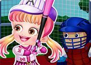 play Baby Hazel Baseball Player Dressup