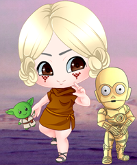 Star Wars Geek Chibi Dress Up Game game