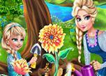 play Elsa Mommy Gardening
