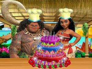 play Moana Delicious Cake Decor